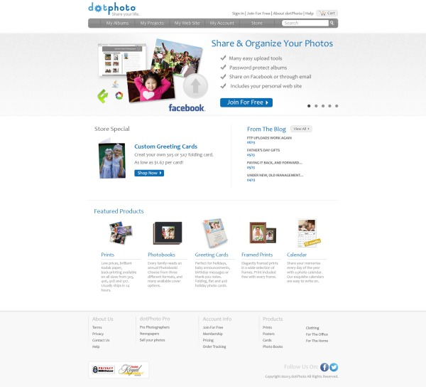 New dotPhoto Homepage